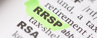 word rrsp is highlighted on a page