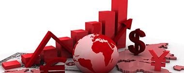 stocks and arrow pointing upward